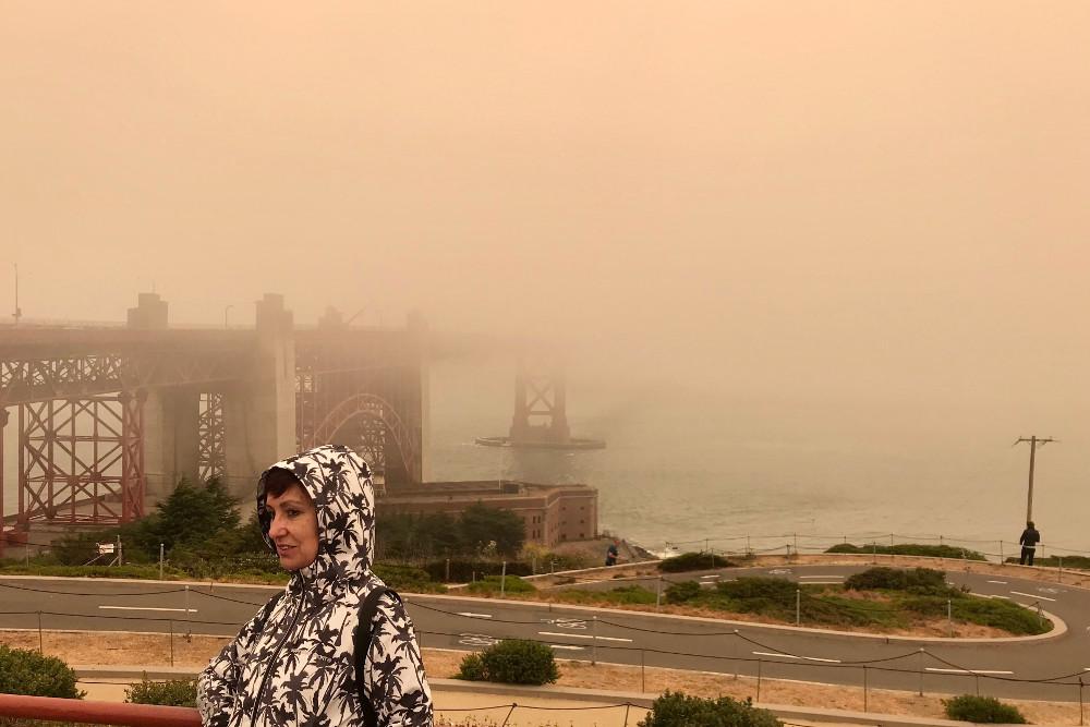 Golden Gate Bridge en un día de niebla (cosa bastante normal)