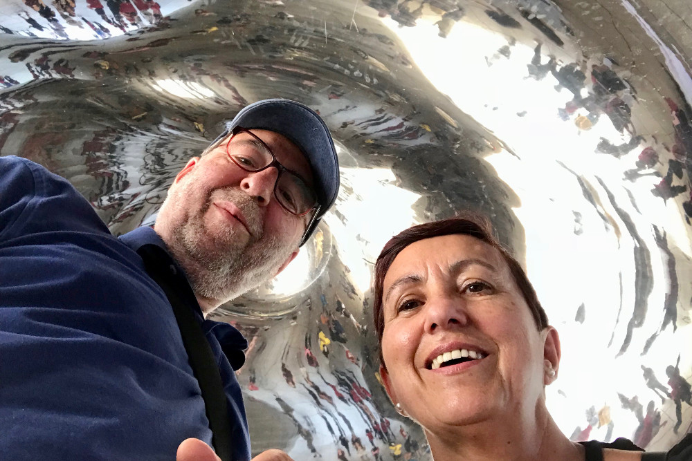 Chicago, selfie en the Bean, está en el espectacular Millenium Park