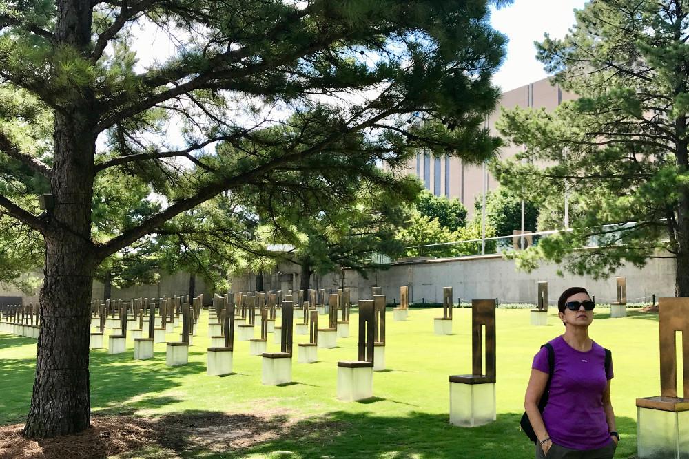 La parte más triste del viaje, el Monumento Conmemorativo Nacional construido en Oklahoma City en honor a las víctimas del atentado ocurrido el 19 de abril de 1995. <br>Descansen en paz.