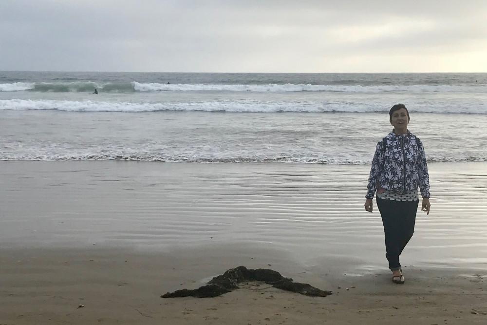 En Pismo Beach, la playa más cercana al motel donde dormimos
