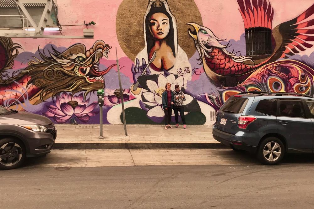 Paseando por Chinatown en San Francisco la comunidad china más grande fuera de Asia.